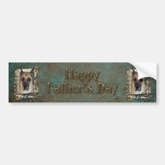 Día de padres - patas de piedra - great dane pegatina para auto