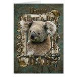 Día de padres - patas de piedra - koala