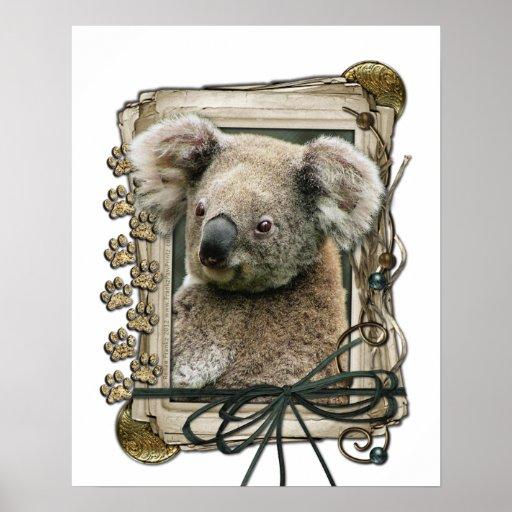 Día de padres - patas de piedra - koala impresiones
