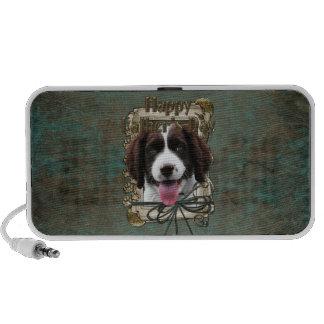Día de padres - patas de piedra - perro de aguas d iPod altavoz