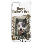 Día de padres - patas de piedra - perro del ganado iPhone 5 cobertura