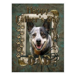 Día de padres - patas de piedra - perro del ganado tarjeta postal