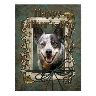 Día de padres - patas de piedra - perro del ganado tarjetas postales