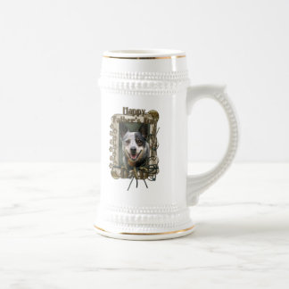 Día de padres - patas de piedra - perro del ganado taza