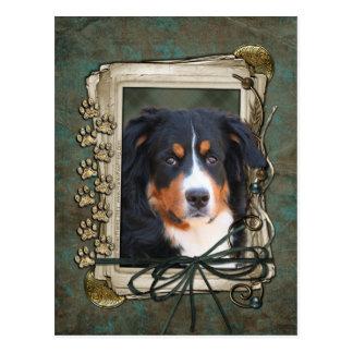 Día de padres - patas de piedra - perro del untain postal