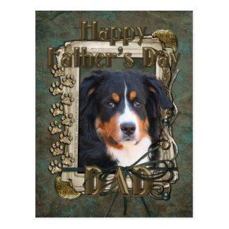 Día de padres - patas de piedra - perro del untain tarjetas postales