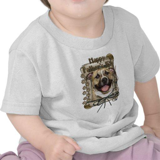 Día de padres - patas de piedra - Pitbull - Tigger Camisetas