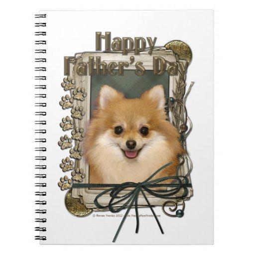 Día de padres - patas de piedra - Pomeranian Libros De Apuntes