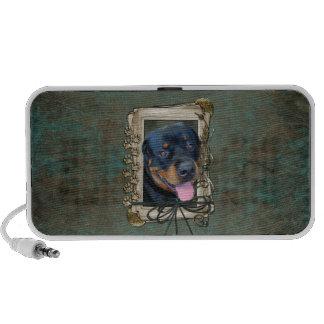 Día de padres - patas de piedra - Rottweiler - Har iPod Altavoces