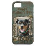 Día de padres - patas de piedra - Rottweiler - Sam iPhone 5 Case-Mate Fundas