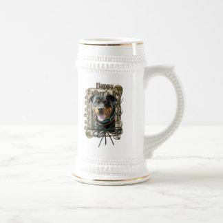 Día de padres - patas de piedra - Rottweiler - Sam Taza De Café