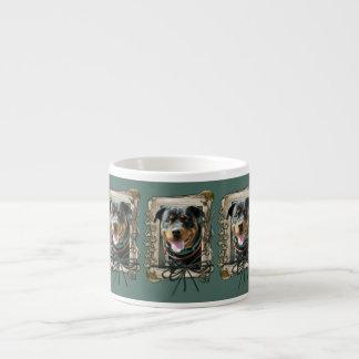 Día de padres - patas de piedra - Rottweiler - Taza Espresso