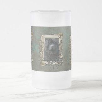 Día de padres - patas de piedra - Terranova Taza Cristal Mate
