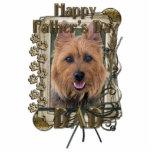 Día de padres - patas de piedra - Terrier australi Escultura Fotográfica