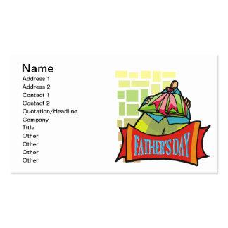 Día de padres tarjetas de visita