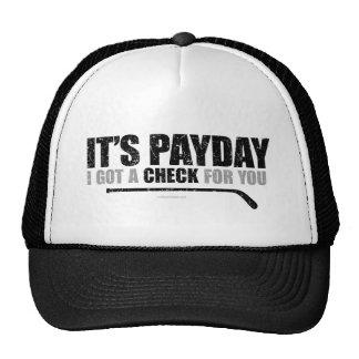 Día de paga #1 del hockey gorros bordados
