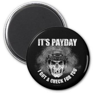 Día de paga #2 del hockey imán redondo 5 cm