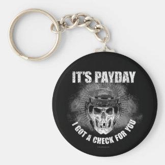 Día de paga #2 del hockey llavero redondo tipo pin