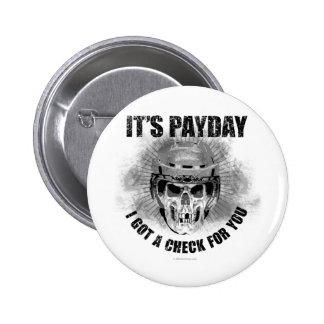 Día de paga #2 del hockey pin redondo de 2 pulgadas