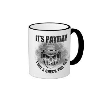 Día de paga #2 del hockey tazas de café