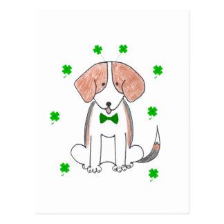 Día de Patricks del santo del beagle Postal