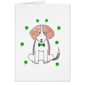 Día de Patricks del santo del beagle Tarjeta De Felicitación