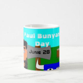 Día de Paul Bunyan Taza Básica Blanca