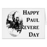 Día de Paul Revere Felicitación