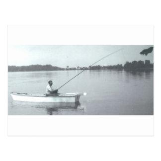 Día de pesca postales