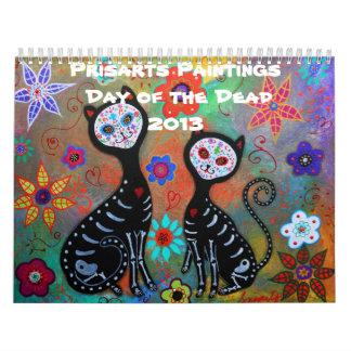 Día de Prisarts de la colección muerta 2013 Calendarios De Pared