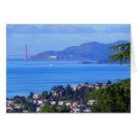Día de puente Golden Gate de San Francisco en la b Felicitacion