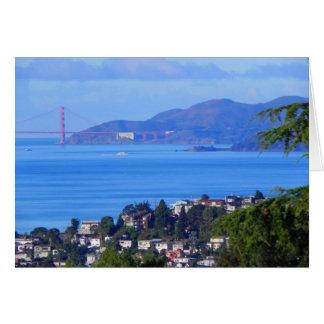 Día de puente Golden Gate de San Francisco en la Tarjeta De Felicitación