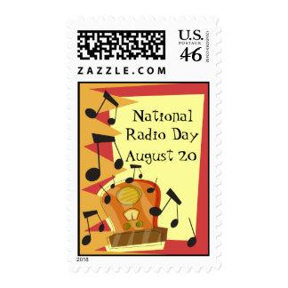 Día de radio nacional el 20 de agosto franqueo