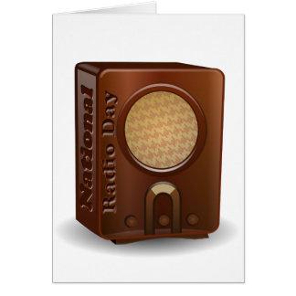 Día de radio nacional tarjetas