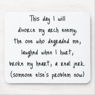 Día de recuerdo del divorcio tapete de ratones