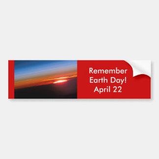 ¡Día de RememberEarth!  22 de abril Pegatina Para Auto