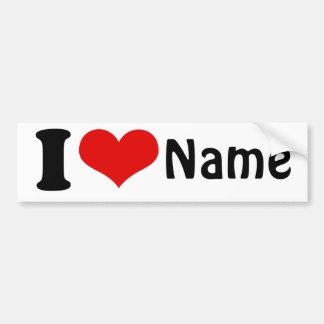 Día de San Valentín adaptable amo personalizado de Etiqueta De Parachoque