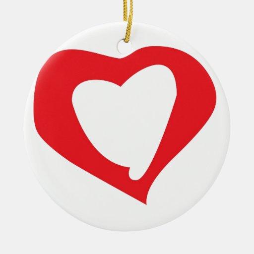 Día de San Valentín Adorno Navideño Redondo De Cerámica