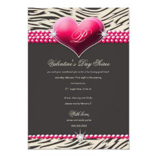 día de San Valentín atractivo del corazón 311-Pink Invitaciones Personalizada