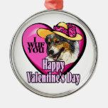 Día de San Valentín australiano del pastor Adorno De Reyes