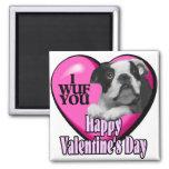 Día de San Valentín Boston Terrier Iman De Frigorífico