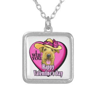 Día de San Valentín de Airedale Terrier Collar Personalizado