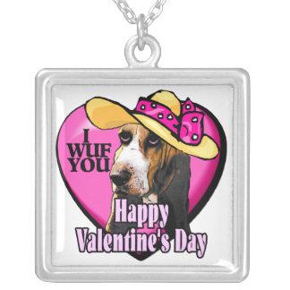 Día de San Valentín de Basset Hound Joyería