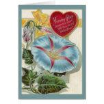 Día de San Valentín de la correhuela del vintage Tarjeta