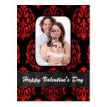 Día de San Valentín de la plantilla de la foto del Tarjeta Postal