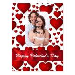 Día de San Valentín de la plantilla de la foto del Postal