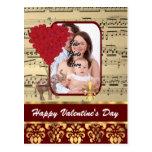 Día de San Valentín de la plantilla de la foto del Postales