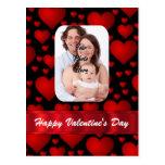 Día de San Valentín de la plantilla de la foto del Tarjetas Postales