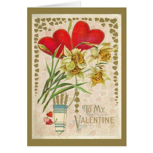 Día de San Valentín de los corazones y de los Tarjeta De Felicitación