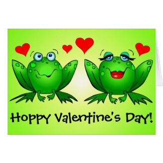 Día de San Valentín de lúpulo divertido lindo de l Felicitacion